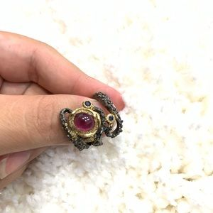 Jewelry - Natural Garnet Sterling Silver ring